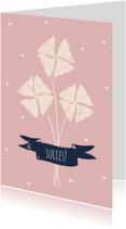 Succes kaarten - Succes Kaart Klavertjes vier