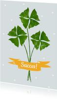 Succes kaarten - Succes kaart met klavertjes 4