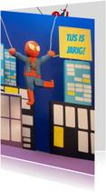 Verjaardagskaarten - Super verjaardagskaart spiderman
