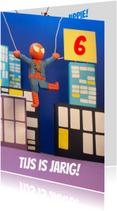 Verjaardagskaarten - Superheld verjaardagskaart spiderman