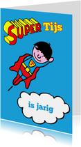 Verjaardagskaarten - superman jarige jongen