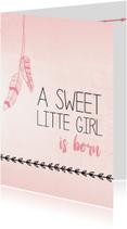 Felicitatiekaarten - Sweet little girl is born...