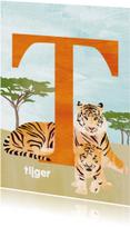 Kinderkaarten - T van tijger