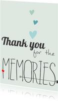 Liefde kaarten - Thank you for the memories