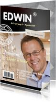 Jubileumkaarten - Tijdschriftkaart jubileum werk