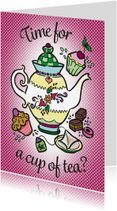Vriendschap kaarten - Time for a cup of tea?