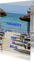 Geslaagd kaarten - time to relax