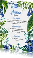 Menukaarten - Tropical Menukaart enkel
