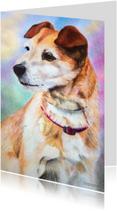 Dierenkaarten - Trouwe hond - kunstkaart