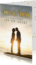 Trouwkaarten - Trouwkaart - met foto mrs&ms (foto)