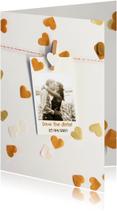 Trouwkaarten - Trouwkaart save the date golden