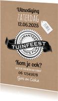 Uitnodigingen - Tuinfeest 100% fun-isf