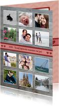 Valentijnskaarten - Twaalf maanden kaart - Valentijn