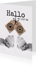 Geboortekaartjes - Tweeling met label-isf