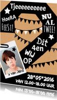 Kinderfeestjes - Uitnodiging 2 jaar karton