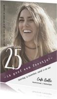 Uitnodigingen - Uitnodiging 25, eenvoudig en stijlvol met foto