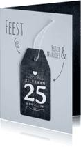 Jubileumkaarten - Uitnodiging 25 jaar huwelijk