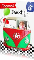 Kinderfeestjes - uitnodiging autobusje feest