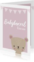 Uitnodigingen - Uitnodiging babyborrel voor een meisje