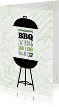 Uitnodigingen - Uitnodiging BBQ Botanisch