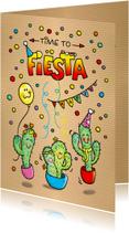 Uitnodigingen - Uitnodiging Cactus Fiësta Mexico