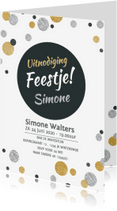 Uitnodigingen - Uitnodiging cirkel confetti av