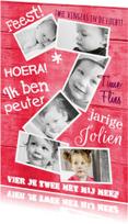 Kinderfeestjes - Uitnodiging collage 2 jaar roze