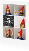 Kinderfeestjes - Uitnodiging Collage Hoera krijt