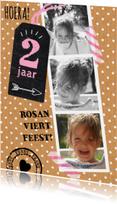 Kinderfeestjes - Uitnodiging Collage lief en hip