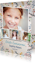 Communiekaarten - Uitnodiging Communie Vintage
