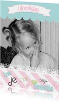 Kinderfeestjes - Uitnodiging  eigen Foto Meisje