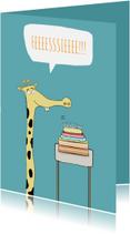 Kinderfeestjes - Uitnodiging Feesie de la giraffe!