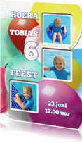 Kinderfeestjes - Uitnodiging feest ballon - SG