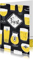 Uitnodigingen - Uitnodiging feest biertjes