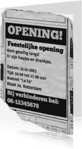 Uitnodigingen - Uitnodiging - feestelijke opening advertentie