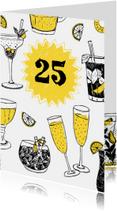 Jubileumkaarten - Uitnodiging feestje met drankjes