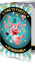 Kinderfeestjes - Uitnodiging feestvarken