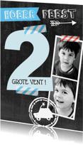 Kinderfeestjes - uitnodiging foto's 2 jaar