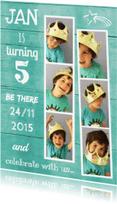 Kinderfeestjes - uitnodiging fotocollage Armin