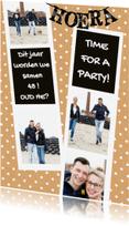 Uitnodigingen - Uitnodiging fotocollage stippen