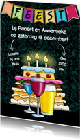 Uitnodigingen - Uitnodiging glazen taart - HE