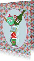 Uitnodigingen - Uitnodiging High Tea & Wine