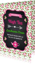 Uitnodigingen - Uitnodiging High Tea LB01