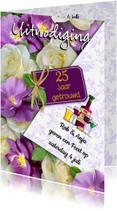 Jubileumkaarten - Uitnodiging huwelijk jubileum 25 aanpasbaar