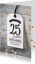 Jubileumkaarten - Uitnodiging Huwelijks jubileum label
