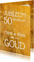 Jubileumkaarten - Uitnodiging jubileum goud - OT