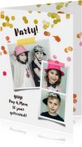 Jubileumkaarten -  Uitnodiging jubileum pasfoto