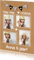 Kinderfeestjes - Uitnodiging karton fotokaart
