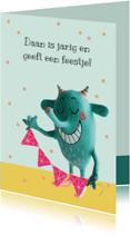 Kinderfeestjes - Uitnodiging Kinderfeest Monster