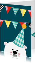 Kinderfeestjes - Uitnodiging kinderfeestje beer